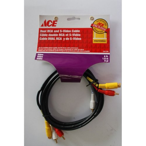 Cable Dual Rca  De Sonido  Y Video  Ace