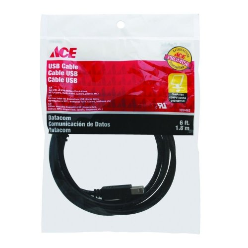 Cable Usb 6Ft 1.82 Mts Ace
