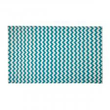 Tapete kilim chevrontThin aqua